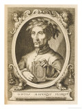 Dante Alighieri Italian Writer Giclee Print by Esme De Boulonois