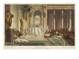 Julius Caesar is Assassinated in the Senate by Brutus and His Companions Premium Giclee Print by  Gerome