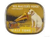 His Master's Voice: The Hmv Dog Listens Eternally Giclee Print by  Design