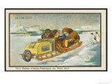 Snowmobile at the South Pole Giclee Print by Jean Marc Cote