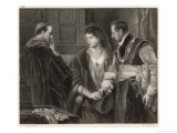 The Winter's Tale, Leontes Nurses Suspicions of His Wife Hermione and Their Visitor Polixenes Giclee Print by M. Adamo