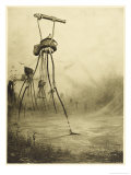 The War of the Worlds, The Martians Fire Their Gas- Guns Giclee Print by Henrique Alvim Corr&#234;a