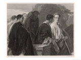 Julius Caesar, Caesar and the Conspirators Giclee Print by M. Adamo