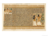 Book of the Dead: Ani and His Wife Tutu Adoring Thoth Giclee Print by E.a. Wallis Budge