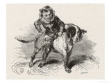 "An Irish ""Luricane"" Riding on a Dog Giclee Print by Collin De Plancy"