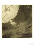 The War of the Worlds, The Martians Start Their Journey to Attack Earth Lámina giclée por Henrique Alvim Corrêa
