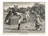 Friendly Game of Mixed Doubles Reproduction proc&#233;d&#233; gicl&#233;e par Everard Hopkins