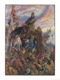 Battle of Hastings William Duke of Normandy Defeats the English Army Led by Harold Giclee Print by Henry Justice Ford