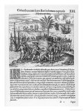 Bombadilla is Sent as Governor to Hispaniola, Haiti Giclee Print by Theodor de Bry