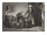 Benedict Arnold Persuades Major Andre to Conceal Papers in His Boot Giclee Print by C.f. Blauvelt