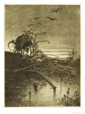 The War of the Worlds a Wrecked Martian Handling- Machine Giclee Print by Henrique Alvim Corrêa