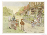 The Baker's Shop in an English Village Giclee Print by Francis Bedford