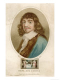 Rene Descartes French Mathematician and Philosopher Giclee Print by J. Chapman