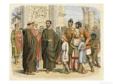 "Pope Gregory Sees English Slaves in Rome, ""Non Angli Sed Angeli"" He is Supposed to Have Said Giclee Print by James Doyle"