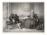 Gustav III Meets Catherine Empress of Russia at St. Petersburg Giclee Print by C.a. Dahlstrom