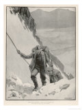 On the Klondike Trail, Gold Prospectors at the Summit of the Notorious Chilkoot Pass Giclee Print by Julius M. Price