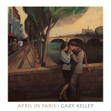 April in Paris Posters by Gary Kelley