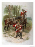 Mounted Infantry Giclee Print by Frank Dadd