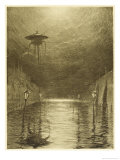 The War of the Worlds, a Martian Machine Over the Flooding Thames Giclee Print by Henrique Alvim Corrêa