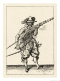 Musket and Arquebus Holland, Loading Giclee Print by Jakob De Gheyn