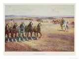 Ploughing in Australia Giclee Print by Percy F.s. Spence