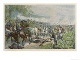 Italian Campaign Napoleon Halts the Retreat at Marengo Giclee Print by F. De Myrbach