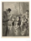 Child Labour in England: a Government Inspector Visits a Factory Where Children are Employed Giclee Print by M. Ainslie