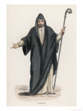 Saint Benedict of Nursia Italian Religious Gained Fame for Sanctity as Hermit Near Subiaco Giclee Print by Duverger
