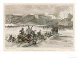 Battle of Austerlitz Russians Retreat Across the Frozen Lake Satschan Giclee Print by F. De Myrbach