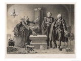 He Visits a Fortune-Teller Who Predicts, Correctly, Impending Disaster Ca 1791 Giclee Print by C.a. Dahlstrom