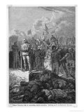 Third Crusade, Richard I Orders the Execution of Muslim Flagellants Giclee Print by Alphonse De Neuville