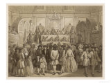 England Drawing of the State Lottery at the Guildhall London Giclee Print by John Crew