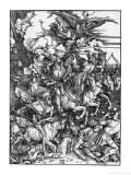 The Four Horsemen of the Apocalypse Giclée-tryk af Albrecht Dürer