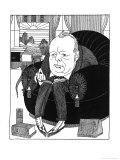 Winston Churchill British Statesman Relaxing Giclee Print by Powys Evans