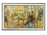 The Businessman Dictates His Correspondence Giclee Print by Jean Marc Cote