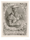 Gerardus Mercator Known Also as Gerhard Kremer Flemish Cartographer, Giclee Print