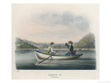 Tourists Boating on Ullswater in the English Lake District Giclee Print by M. Egerton