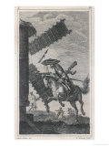Don Quixote He Attacks the Windmill Giclee Print by W. Bromley