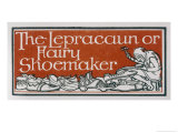 An Irish Leprechaun or Fairy Shoemaker Giclee Print by George Denham