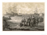 Gustaf Adolf King of Sweden Lands at Usedom Giclee Print by C.a. Dahlstrom