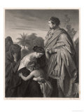 His Mother Begs Him to Spare Rome Giclee Print by M. Adamo