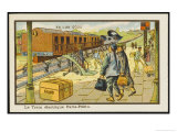 This is How You Will Travel from Paris to Peking in the Year 2000 Giclee Print by Jean Marc Cote