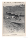 Louis Bleriot Flies the Channel Landing at Dover 37 Minutes after Take-Off from Near Calais Giclee Print by Samuel Begg