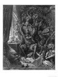 Don Quixote durchlebt noch einmal seine vergangenen Heldentaten Giclée-Druck von Gustave Doré
