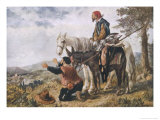 Don Quixote the Return of Don Quixote and Sancho Panza Giclee Print by Sir John Gilbert