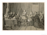Gustaf Adolf King of Sweden Makes an Alliance with Elector Georg Wilhelm Von Brandenburg Giclee Print by C.a. Dahlstrom