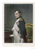 Napoleon Emperor of France in His Study Circa 1807 Lmina gicle por Paul Hippolyte Delaroche