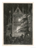 The Destruction of Old Saint Paul's Cathedral Giclee Print by J. Franklin