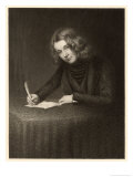 Charles Dickens English Writer Writing in 1842 Giclee Print by Francis Alexander