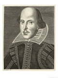 William Shakespeare Playwright and Poet Giclee Print by M. Droeshout